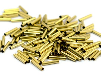 50 pcs. Raw Brass 2x10 mm Tube Spacers Findings