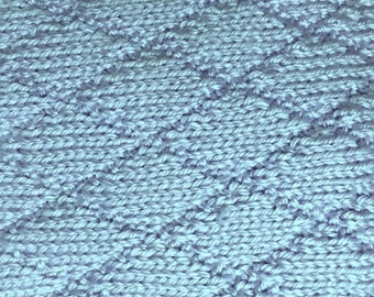 Blue Hand-knit Baby Blanket