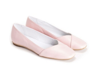 SALE 30% Off / Slip On Shoes,  Flats, Ballet Flats,Summer Shoes, Womens Shoes, Leather Shoes, Pumps, Handmade Shoes, Womens Flats // Fr