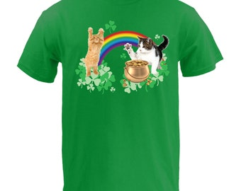 St. Patrick's Day Cats - Kelly Green