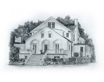 Custom 8x10 House Sketch.2