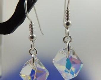 free form Swarovski crystal earrings