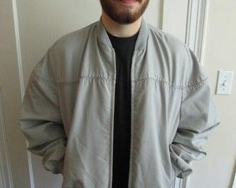 Vintage Gray / Grey Men's Bomber Jacket