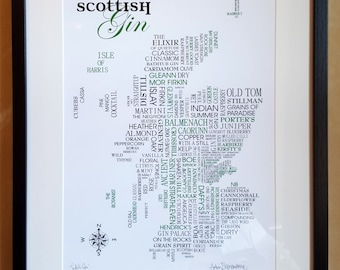 Scottish Gin Word Map