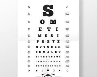 Poster · Eye test · 50 x 70
