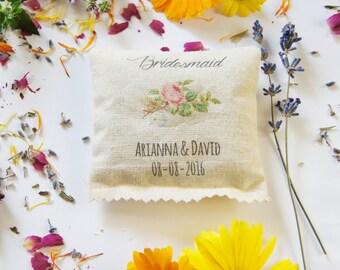 Bridesmaid Themed, Scented Sachet, Custom Gift for Bridesmaid