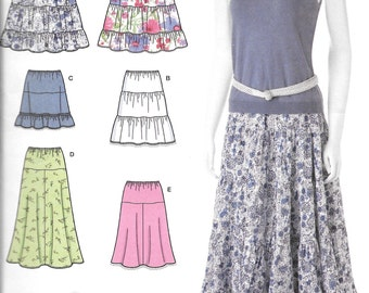 Simplicity 2609, Skirts Sewing Pattern, Easy Simple, Misses Pull-on skirts with Length Variations, new uncut size 16-18-20-22-24