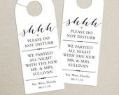 Set of 10 - Door Hanger for Wedding Hotel Welcome Bag - Do Not Disturb - Destination Wedding