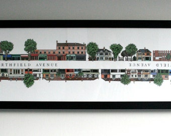Northfield Avenue Street Illustration