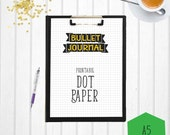 Bullet Journal Dot Paper | A5 | Printable Bullet Journal | A5 Dot Paper | Bullet Journal