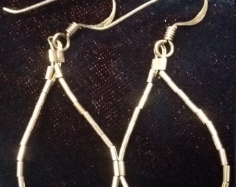Vintage Sterling silver turquoise earrings with 925 hooks