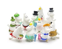 12pc Moomin Valley Figure Toys Collectibles Display Gardening Decoration Tiny  Landscape Miniature Fairies Snorkmaiden OV177