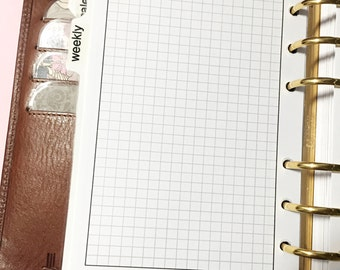 DOWNLOAD A6 Grid Paper Planner Insert