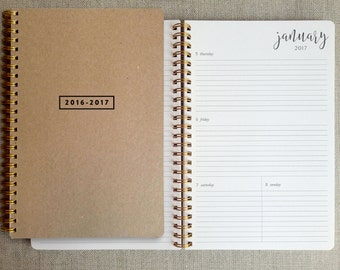 2016/2017 planner | weekly calendar | academic planner | weekly agenda book | student planner