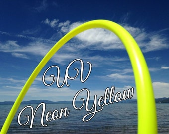 "UV Neon Yellow Colored 3/4"" or 5/8"" PolyPro Hula Hoop - You pick the size - by Colorado Hula Hoops"