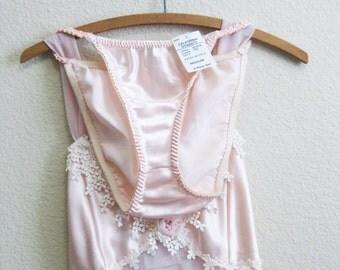 Pink Lace Sheer Babydoll w/ Panties Medium - Deadstock - Nightgown California Dynasty