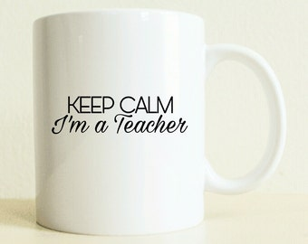 Funny Coffee Mug | Coffee Mug | Keep Calm | English Teacher Gift | Best Friend | Gift for Her | Woman Gift | Motivation Gift | Gift for Him
