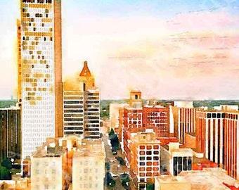 Downtown Tulsa Pillow Cover