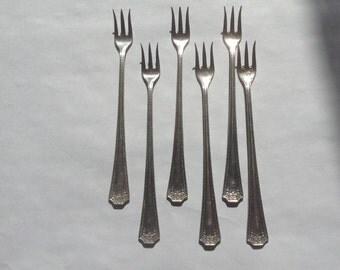 Vintage Olive Forks Set of 6