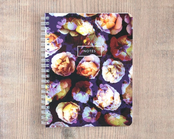 Precious Peony Notebook, Journal, Diary, Flower Statement, Travel, Gift, Planner, Writing, Thoughts, Notes, 5.5x7.25 inch