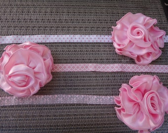sparkly bow headband, newborn, infant, toddler, photo prop, glitter, elastic, lace headband, light pink, silver, MORE ELASTIC OPTIONS!