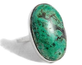 Turquoise Boho Silver Ring