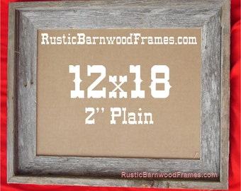 """12x18 2"""" Plain rustic barn wood aged weathered reclaimed primitive photo picture frame 12"""" x 18"""" unfinished repurposed barnwood frames"""