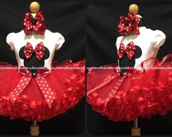 Minnie Mouse tutu set silhouette ribbon tutu