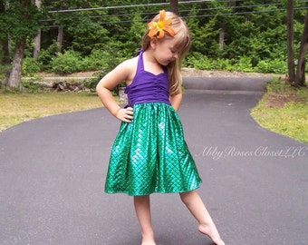 Under the sea dress , Mermaid dress,little mermaid dress