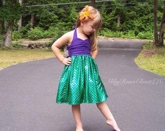 Under the sea dress , Mermaid dress,little mermaid dress