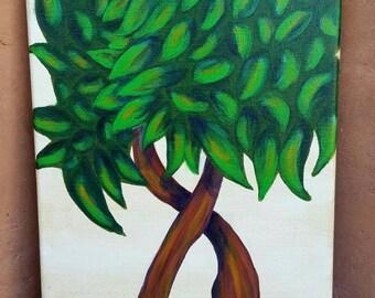 Hugging Trees - 10x14