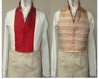 Men's Regency 1806-1830 era Slip Vest & Vest sizes 34-56 Laughing Moon Sewing Pattern # 123