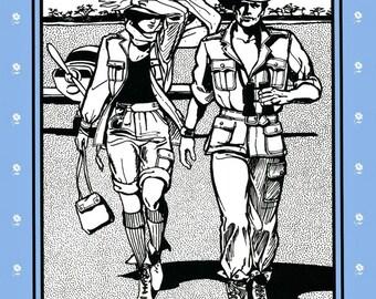 Folkwear Australian Bush Outfit Jacket, Trousers, Shorts Sewing Pattern # 130 Men & Women