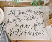 Kitchen Words Placemat, home decor, present, housewarming gift, tablewear, table scene, place setting, set the table, place mat