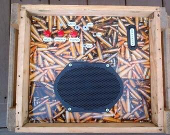 Portable guitar amp cigar box guitar Ammo Crate guitar amp 5 FULL WATTS !!!!