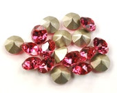 Swarovski 39ss 1088 Indian Pink Xirius Chatons 8mm Crystal 12 Pieces