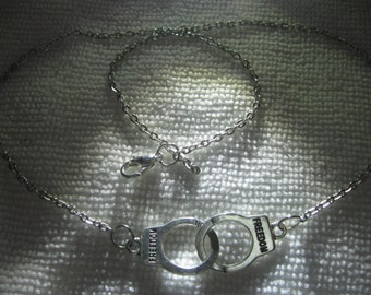 Freedom Nancy Grace Handcuffs Necklace