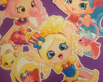 Shopkins Shoppies Dolls Set of 6 Die Cuts