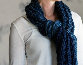 Thick & Chunky Scarf Knitting Pattern - FORGIVENESS - a set of instructions to knit