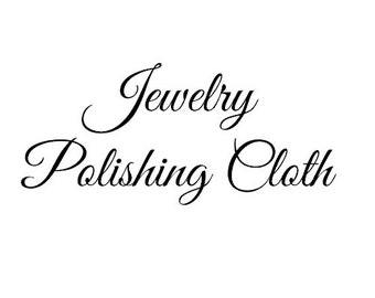 Jewelry Polishing Cloth - ADD ON