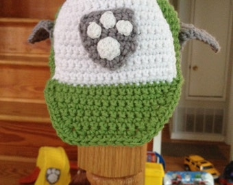 Crocheted toddler paw patrol Rocky Inspired Hat