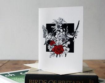 A6 British Birds Greetings Card