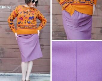 Lavender Pencil Skirt