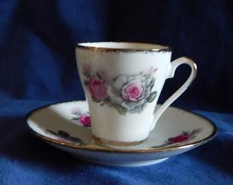 Vintage Gold Trim Demitasse/espresso Cup and Saucer