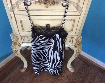 Vintage VICTORIA SECRET Zebra Print Nightie Sz XS
