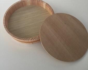 Wooden circle box, supplies wooden box, tricken wooden box, wood box