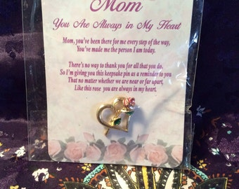 Mother brooch with poem 1 in