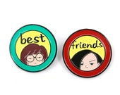 Daria and Jane Soft Enamel Pin Pack - Lapel Pin - 90s - Hat Pin