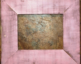 "F002 3-1/2"" Baby Pink Distressed Picture Frame"