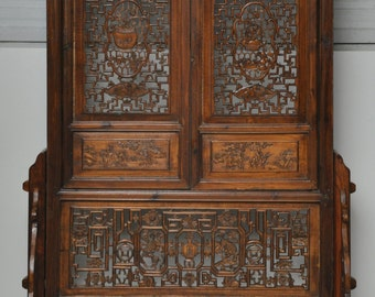 Standing Screen with Intricate Carvings